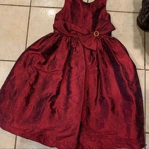 Emily West Burgundy Girls Dress Size 8 Formal